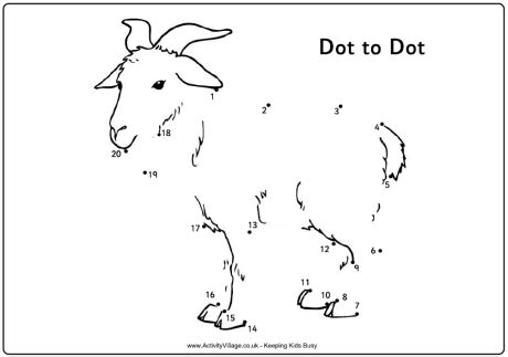 chinese new year goat coloring page dot to dot goat boerderij lesidee 235 n pinterest goats
