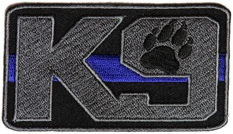 Rubber Patch Detasemen K9 K 9 Emblem Velcro Perekat Karet thin blue line k9 patch