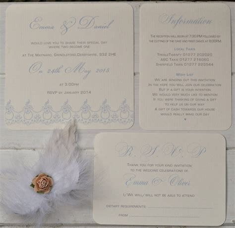not on the high lace wedding invitations lace trim design personalised wedding invitations by beautiful day notonthehighstreet