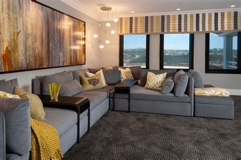 Home Interior Design Photo Gallery Hamptons Inspired Luxury Home Theater Robeson Design San