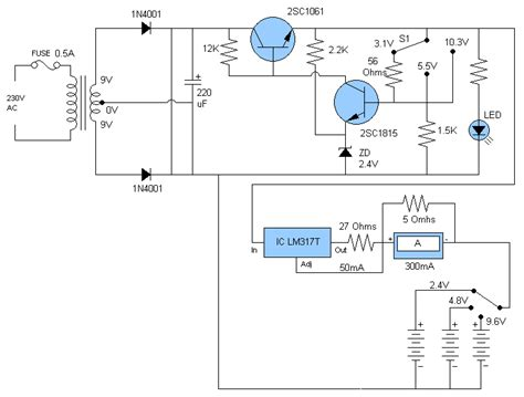 battery charger circuit diagram electronic diagrams