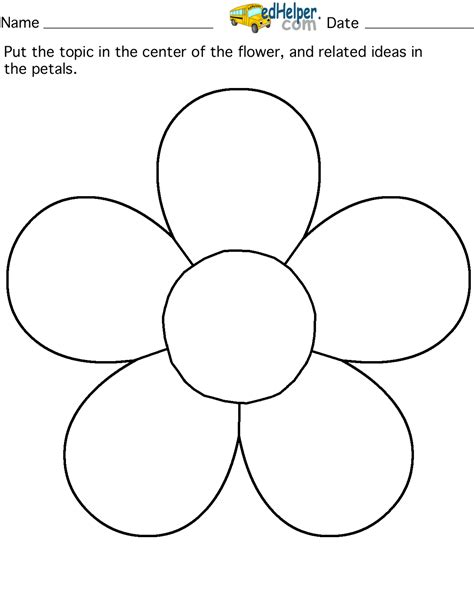 templates for flowers five petal flower template preschool sorting pinterest