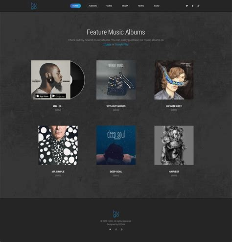 hugo themes forest hugo music bands psd theme by dzoan themeforest