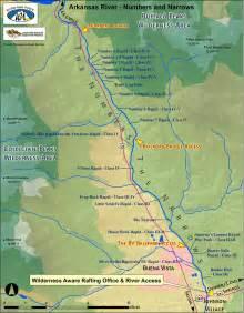 arkansas river colorado map arkansas river numbers and narrows sections colorado