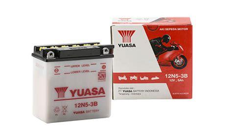 Aki Motor Yuasa 12n10 3b Original 12n10 3b
