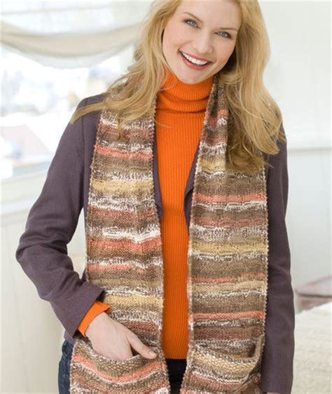 knitting pattern scarf with pockets pocket scarf free knit pattern knitting bee