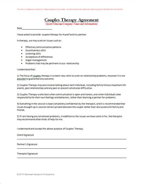 Form New Confidentiality Agreement Form For Counseling Therapeutic Separation Agreement Template