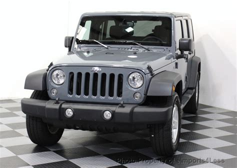 Cpo Jeep 2015 Used Jeep Wrangler Unlimited Certified Wrangler