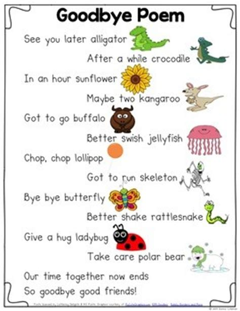 printable goodbye quotes quotes about saying goodbye to preschool students quotesgram