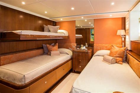 upper pullman bed lady b luxurious sailing charter yacht mediterranean nyc