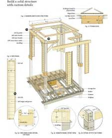 free blueprints simple square gazebo plans free garden gazebo plans