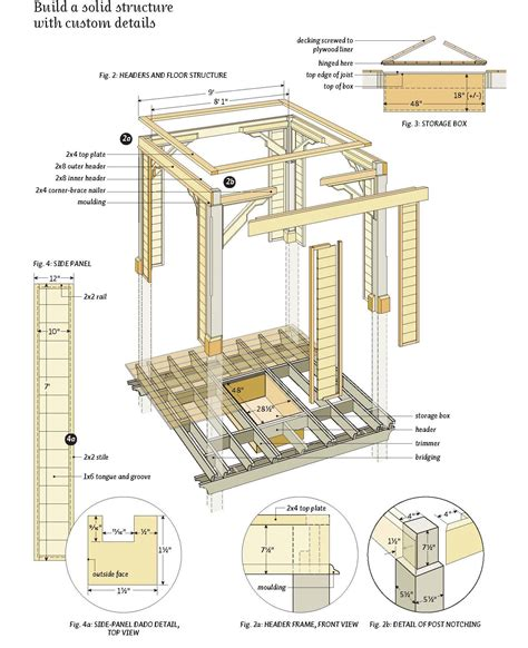free woodworking pdf plans woodwork wood gazebo plans free pdf plans