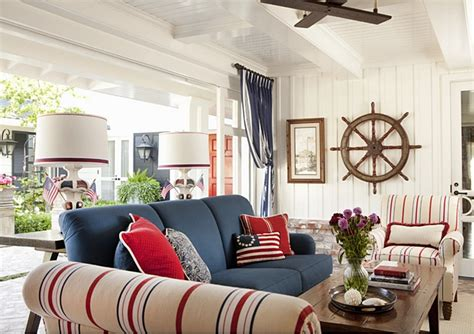 red and blue home decor decorating with red white and blue town country living