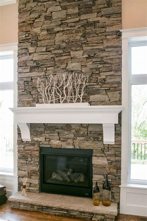 Fireplace Gravel by Stacked Fireplace Design By Dennis