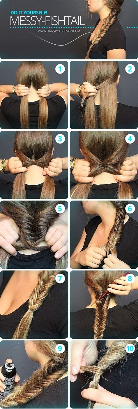 how to make braid spray with water and glycerine fishtail fishtail braids and braids on pinterest