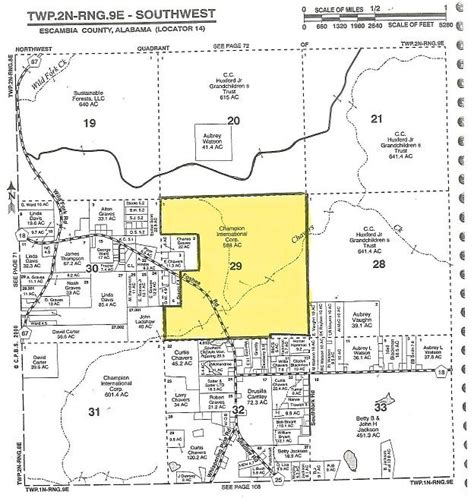 Escambia County Alabama Property Records 580 Acres In Escambia County Alabama