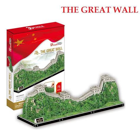 New Item Cubic Puzzle 3d Great Wall Large Size 3d puzzle toys jigsaw model cubicfun diy the great wall