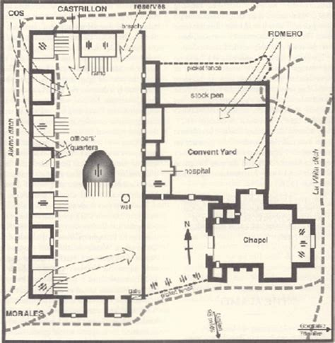 Floor Plan Of The Alamo | dawn march 6 1836 siege of the alamo day 13 the