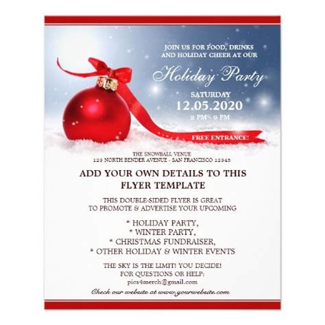 32 best christmas and holiday party flyers images on