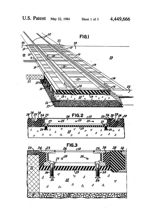 how long is a section of railroad track patent us4449666 concrete railroad tie for supporting