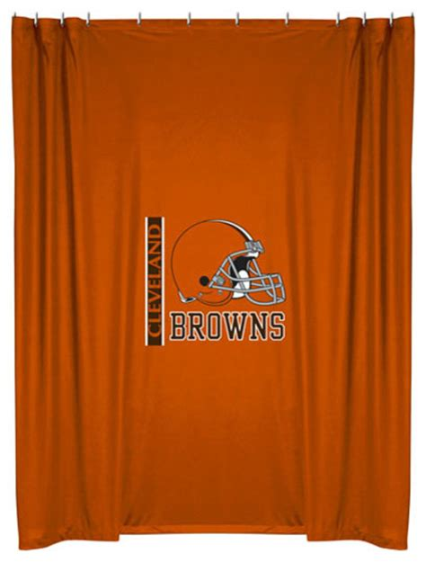 Nfl Shower Curtains Nfl Cleveland Browns Football Locker Room Shower Curtain Contemporary Shower Curtains By
