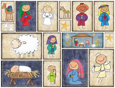 printable lds christmas cards nativity blocks simply fresh designs