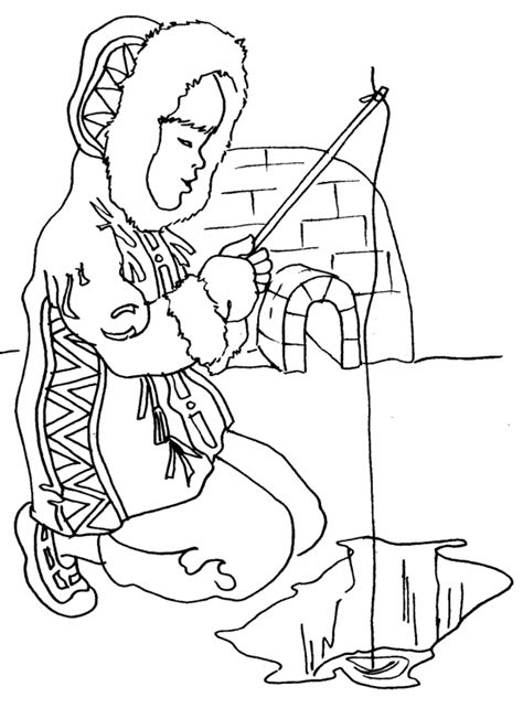 eskimo igloo coloring page eskimo coloring page az coloring pages