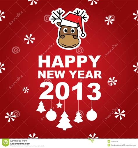 new year banner vector vector new year banner with reindeer royalty free stock