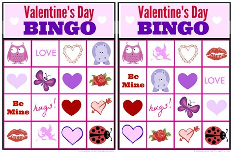 7 best images of printable valentine bingo game free