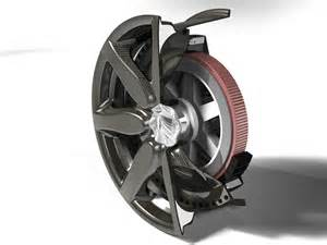 Electric Car Motor In Wheels Composite Fiber Wheel With Integrated Electric Motor