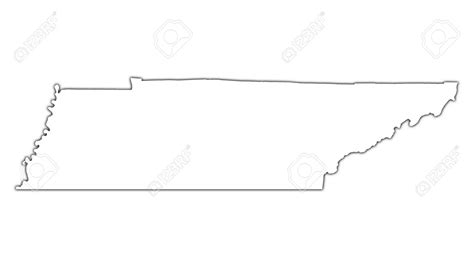Tennessee Outline Map by Tennessee Clipart Outline Clipground