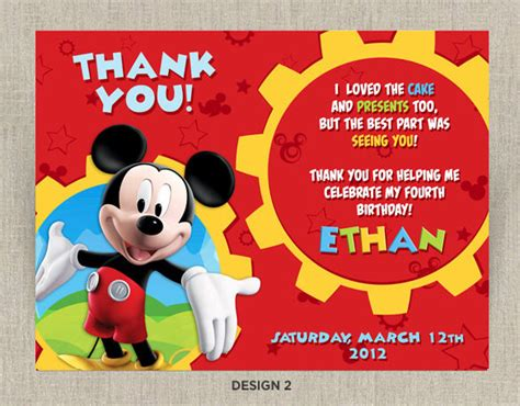 free mickey mouse thank you card template 19 mickey mouse thank you cards psd eps free