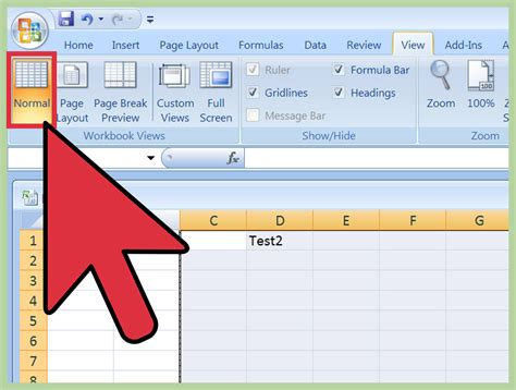 remove page layout lines excel how to insert a page break in an excel worksheet 11 steps