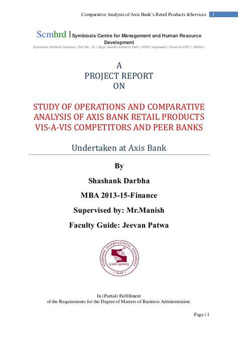 axis bank inter axis bank internship report