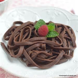 chocoholic chocolate pasta homemade for friends