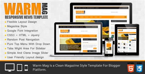 themeforest blogger warmmag premium responsive blogger template by