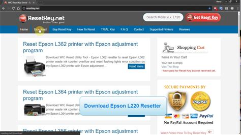 reset l220 gratis reset epson l220 printer epson l220 resetter adjustment