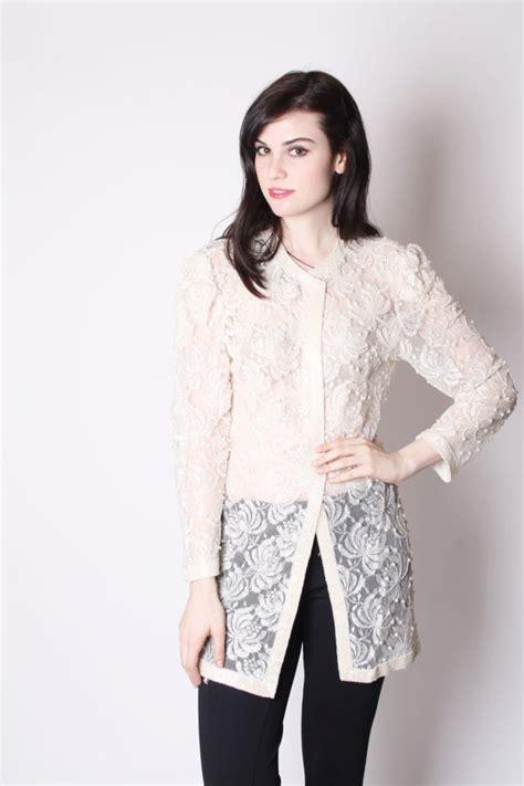 beaded lace jacket vintage white lace beaded sheer cocktail jacket beaded lace