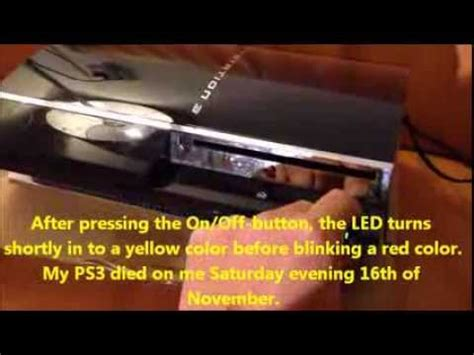 How To Fix Yellow Light Of Ps3 by How To Fix Your Ps3 After The Yellow Light Of Or