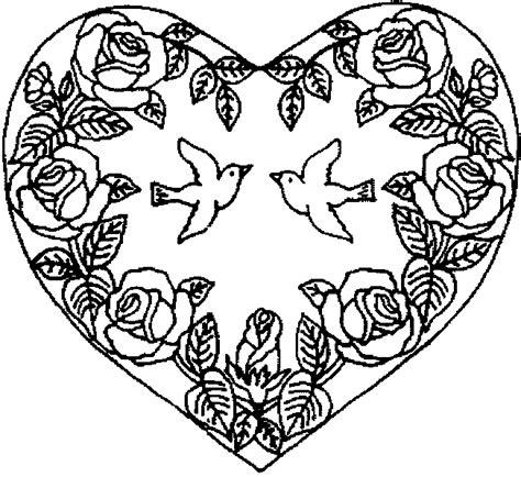 63 Dessins De Coloriage Rose Et Coeur 224 Imprimer Sur Coloriage Coeur Mandala Fleurs Et Nature L