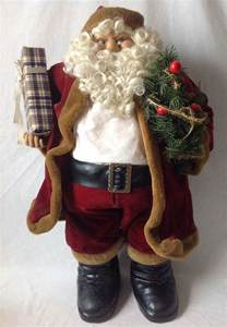 large santa claus doll christmas decor figure 32 quot tall ebay