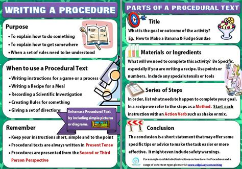 written procedure template how to write an excellent procedural text literacy ideas