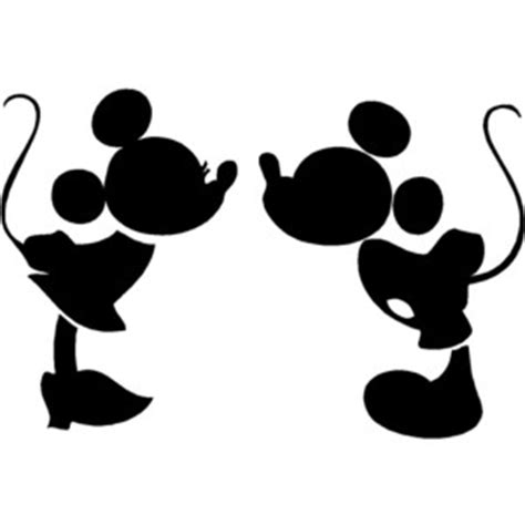 Mermaid Wall Sticker mickey and minnie kissing silhouette cute nursery vinyl