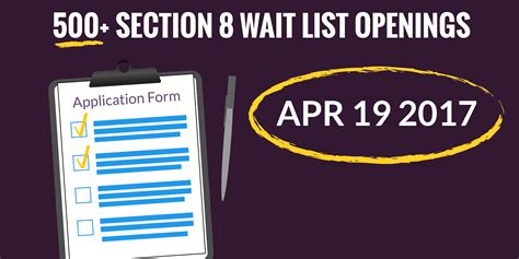 section 8 waiting list ta new section 8 waiting list openings 4 19 2017