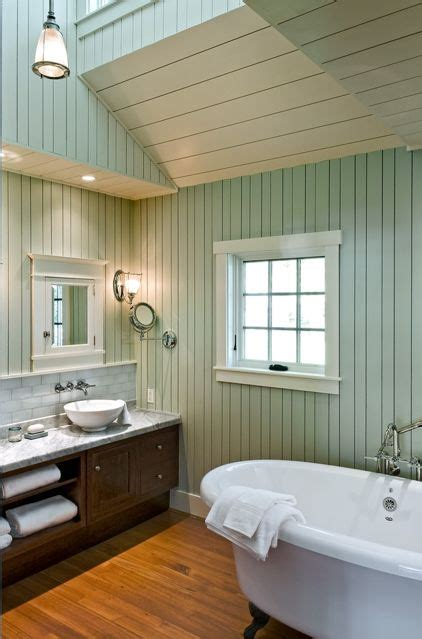 wood paneling in bathroom knotty to nice painted wood paneling lightens a room s look