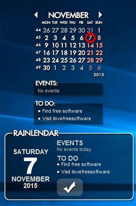Desktop Calendar Widget 5 Desktop Widget Software For Windows 10