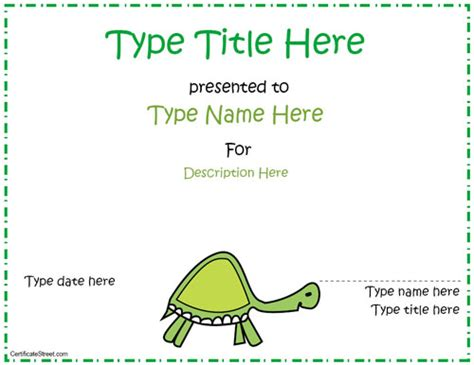 7 best images of cute certificate templates printable