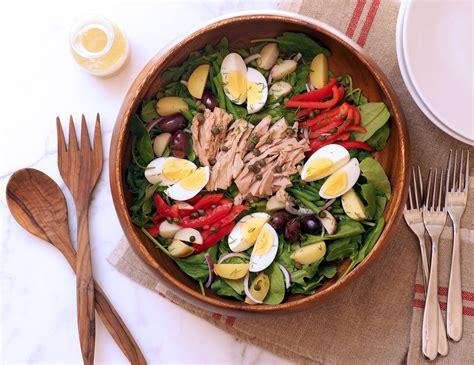 easy salad recipes easy nicoise salad recipe popsugar fitness australia