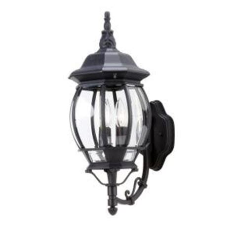 hton bay outdoor lighting fixtures hton bay lighting outdoor hton bay 3 light outdoor black