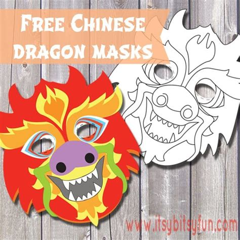 printable chinese new year mask free printable chinese dragon mask template itsy bitsy fun
